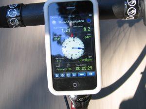 Mobil como GPS para ciclismo